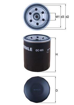 MAHLE ORIGINAL | Oil Filter OC 495
