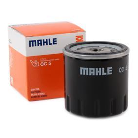 Achat de 72014041 MAHLE ORIGINAL Filtre vissé Diamètre intérieur 2: 62,5mm, Ø: 76,3mm, Hauteur: 79,5mm Filtre à huile OC 5 pas chères
