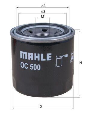 76832471 MAHLE ORIGINAL Anschraubfilter Innendurchmesser 2: 56mm, Außendurchmesser 2: 63mm, Ø: 76,0mm, Höhe: 80mm, Höhe 1: 79mm Ölfilter OC 500 günstig kaufen