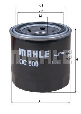76832471 MAHLE ORIGINAL Screw-on Filter Ø: 76,0mm, Ø: 76,0mm, Height: 80mm, Height 1: 79mm Oil Filter OC 500 cheap