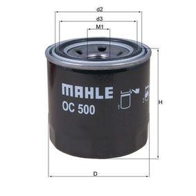76832471 MAHLE ORIGINAL Anschraubfilter Innendurchmesser 2: 56,4mm, Außendurchmesser 2: 63,0mm, Ø: 76,0mm, Höhe: 80,2mm, Höhe 1: 78,5mm Ölfilter OC 500 günstig kaufen