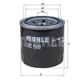 76832471 MAHLE ORIGINAL Filtro aparafusado Diâmetro interior 2: 56,4mm, Diâmetro exterior 2: 63,0mm, Ø: 76,0mm, Altura: 80,2mm, Altura 1: 78,5mm Filtro de óleo OC 500 comprar económica