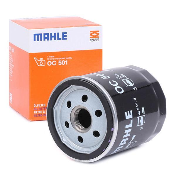 MAHLE ORIGINAL: Original Motorölfilter OC 501 (Ø: 76,0mm, Ø: 76,0mm, Höhe: 94mm)