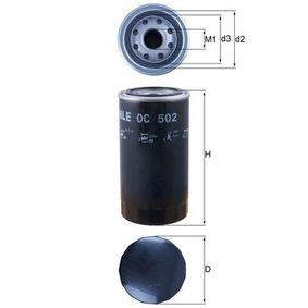 Compre MAHLE ORIGINAL Filtro de óleo OC 502 para DAF a um preço moderado