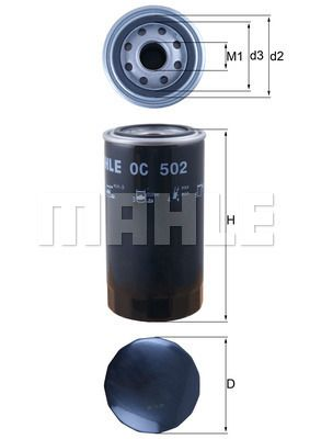 Buy MAHLE ORIGINAL Oil Filter OC 502 for DAF at a moderate price