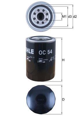OC 54 Motorölfilter MAHLE ORIGINAL in Original Qualität
