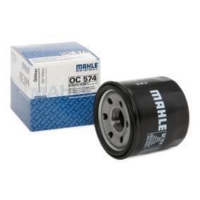 Pirkt moto MAHLE ORIGINAL Uzskrūvējams filtrs Ø: 68,0mm, Augstums: 65,0mm Eļļas filtrs OC 574 lēti