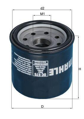 OC 575 Filtru ulei MAHLE ORIGINAL - produse de brand ieftine