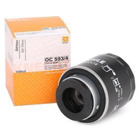 79926198 MAHLE ORIGINAL Anschraubfilter Innendurchmesser 2: 60,5mm, Höhe: 98,3mm Ölfilter OC 593/4 günstig kaufen