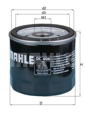 OC 606 Filter MAHLE ORIGINAL - Markenprodukte billig