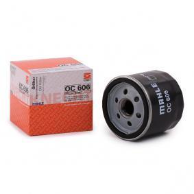 MAHLE ORIGINAL Skruvfilter Innerdiameter 2: 62,0mm, H: 73,5mm Oljefilter OC 606 köp lågt pris