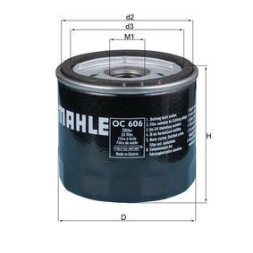 OC 606 Oljefilter MAHLE ORIGINAL - Billiga märkesvaror