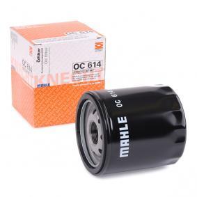 70380336 MAHLE ORIGINAL Skruvfilter Innerdiameter 2: 63,0mm, Innerdiameter 2: 62,0mm, Ø: 76,0mm Oljefilter OC 614 köp lågt pris