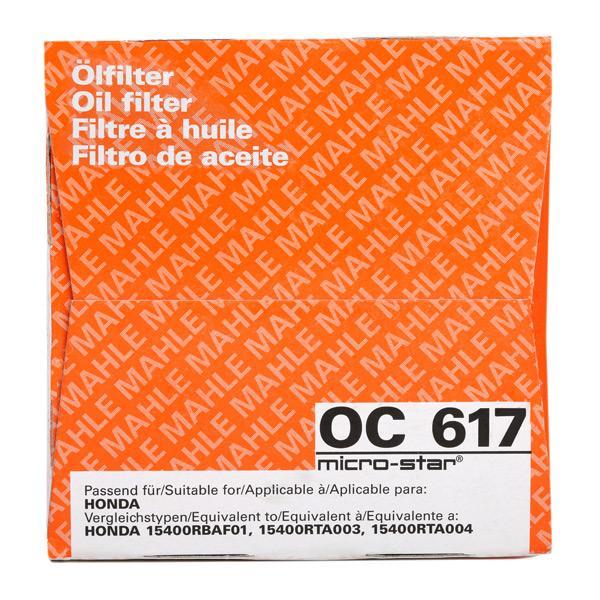 OC 617 Oil Filter MAHLE ORIGINAL Test