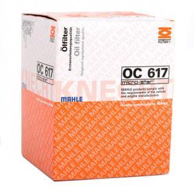 OC 617 Маслен филтър MAHLE ORIGINAL - на по-ниски цени