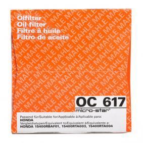 OC 617 Filtre à huile MAHLE ORIGINAL originales de qualité