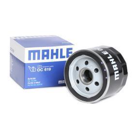 Moto MAHLE ORIGINAL našroubovaný filtr Vnitřni průměr 2: 62,0mm, R: 76,0mm, Výška: 63,5mm Olejový filtr OC 619 kupte si levně