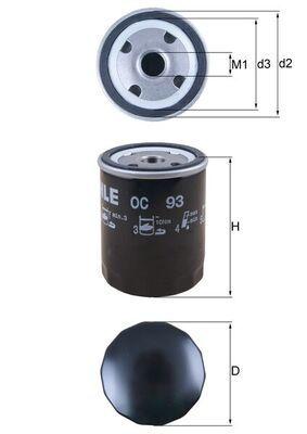 Ölfilter MAHLE ORIGINAL OC 93