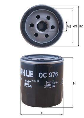 OC 976 Ölfilter MAHLE ORIGINAL Test