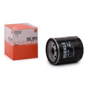 70515879 MAHLE ORIGINAL Skruvfilter Innerdiameter 2: 62,0mm, Ø: 76,0mm, H: 93,5mm Oljefilter OC 981 köp lågt pris