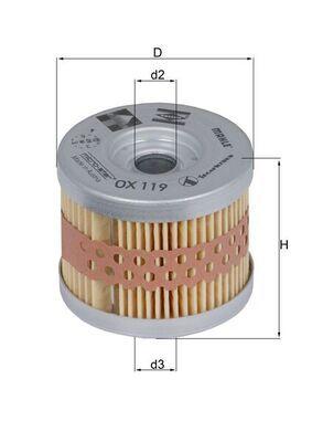 MAHLE ORIGINAL Oljefilter Filterinsats OX 119 KTM