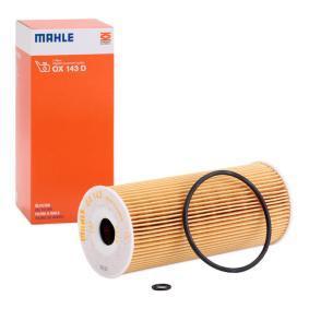 79930943 MAHLE ORIGINAL Filtereinsatz Innendurchmesser 2: 19,5mm, Ø: 65,0mm, Höhe: 153,0mm Ölfilter OX 143D günstig kaufen
