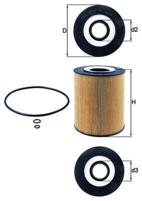 Acquisti MAHLE ORIGINAL OX 146D Filtro olio per MAZ-MAN a prezzi moderati