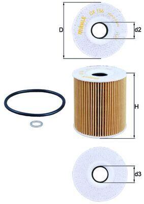 OX 156D Filter MAHLE ORIGINAL - Markenprodukte billig