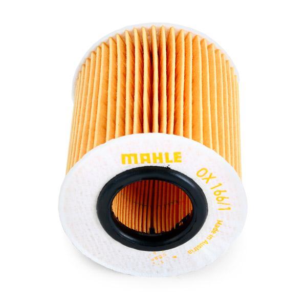 79911744 MAHLE ORIGINAL Filtereinsatz Innendurchmesser: 31,5mm, Innendurchmesser 2: 32mm, Ø: 72,5mm, Ø: 72,5mm, Höhe: 80mm, Höhe 1: 76mm Ölfilter OX 166/1D günstig kaufen