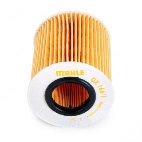 79911744 MAHLE ORIGINAL Filtereinsatz Innendurchmesser: 31,5mm, Innendurchmesser 2: 31,50mm, Höhe: 80,3mm, Höhe 1: 76,4mm Ölfilter OX 166/1D günstig kaufen