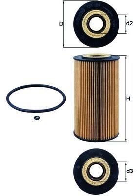 OX169DECO MAHLE ORIGINAL Filtereinsatz Innendurchmesser 2: 35mm, Ø: 82,5mm, Ø: 82,5mm, Höhe: 150mm, Höhe 1: 145mm Ölfilter OX 169D günstig kaufen
