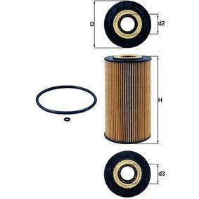 OX169DECO MAHLE ORIGINAL Filtereinsatz Innendurchmesser 2: 34,5mm, Ø: 82,5mm, Höhe: 149,5mm, Höhe 1: 144,5mm Ölfilter OX 169D günstig kaufen