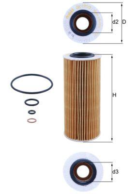 OX 177/3D Filter MAHLE ORIGINAL - Markenprodukte billig
