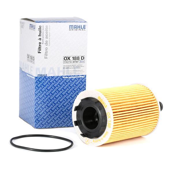 MAHLE ORIGINAL: Original Motorölfilter OX 188D (Innendurchmesser 2: 29mm, Innendurchmesser 2: 29mm, Ø: 71,5mm, Ø: 71,5mm, Höhe: 141mm, Höhe 1: 93mm)