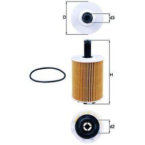 Oljni filter OX 188D od MAHLE ORIGINAL