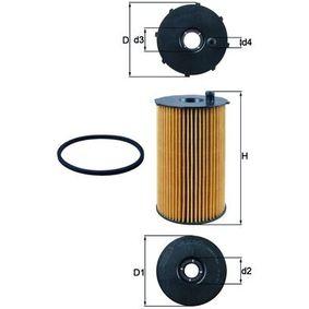 79922123 MAHLE ORIGINAL Filtereinsatz Innendurchmesser 2: 28,55mm, Ø: 88,5mm, Höhe: 151,1mm, Höhe 1: 139,0mm Ölfilter OX 205/2D günstig kaufen