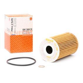 MAHLE ORIGINAL Cartucho filtrante Diâmetro interior 2: 22,0mm, Ø: 65,0mm, Altura: 101,0mm Filtro de óleo OX 388D comprar económica