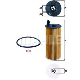 OX 404D Ölfilter MAHLE ORIGINAL Test