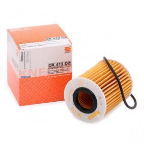 OX413D2ECO MAHLE ORIGINAL Filtereinsatz Innendurchmesser 2: 27,5mm, Ø: 68,8mm, Höhe: 82,0mm, Höhe 1: 78,1mm Ölfilter OX 413D2 günstig kaufen