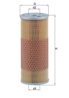 MAHLE ORIGINAL Ölfilter passend für MERCEDES-BENZ - Artikelnummer: OX 59