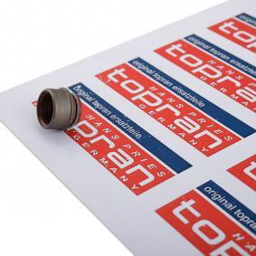 Kupte a vyměňte Tesnici krouzek, drik ventilu TOPRAN 100 254