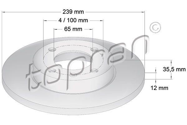 Volkswagen NEW BEETLE TOPRAN Disque 103 406