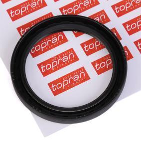 Kúpte a vymeňte Tesniaci krúżok hriadeľa diferenciálu TOPRAN 107 386