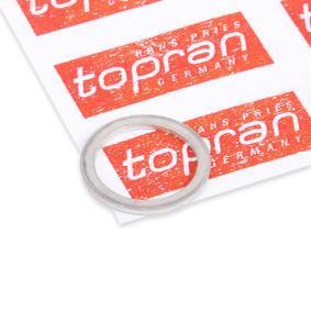 Pirkti 108 647 TOPRAN varis storis: 1mm, Ø: 13,5mm, vidinis skersmuo: 10mm Tarpiklis, alyvos išleidimo angos kaištis 108 647 nebrangu