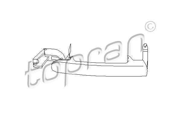 AUDI A2 2000 Heckklappengriff - Original TOPRAN 108 865