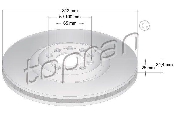 Volkswagen NEW BEETLE TOPRAN Disque 109 524