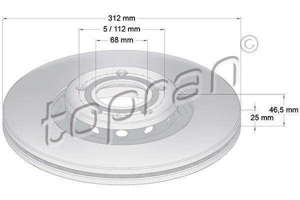 VW Disque d'Origine 110 078