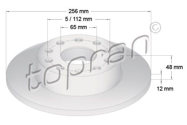 VW Disques de frein d'Origine 110 080