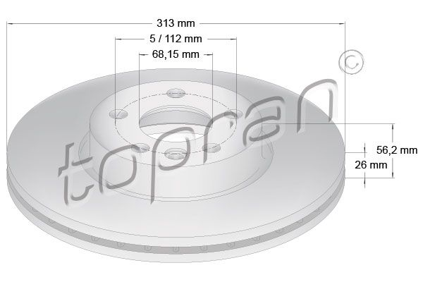 VW Disque de frein d'Origine 110 431