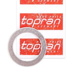 Comprar y reemplazar Anillo de junta, tapón roscado de vaciado de aceite TOPRAN 110 600